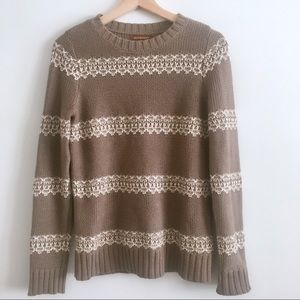 Anthropologie Hive and Honey Taupe Sweater
